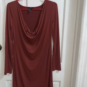 FOREVER 21 Slinky Dress (MAROON)